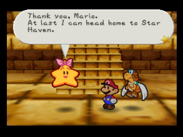 Paper Mario - Cut-Scene  - Bye, then. - User Screenshot